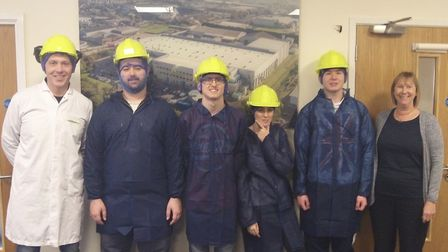 Students get behind the scenes tour of the Lamb Weston factory in Wisbech. Picture: EMMA BIRD.