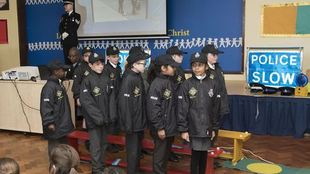 Pupils at Paul Pope Catholic Primary School in Potters Bar school recently completed the Mini Police