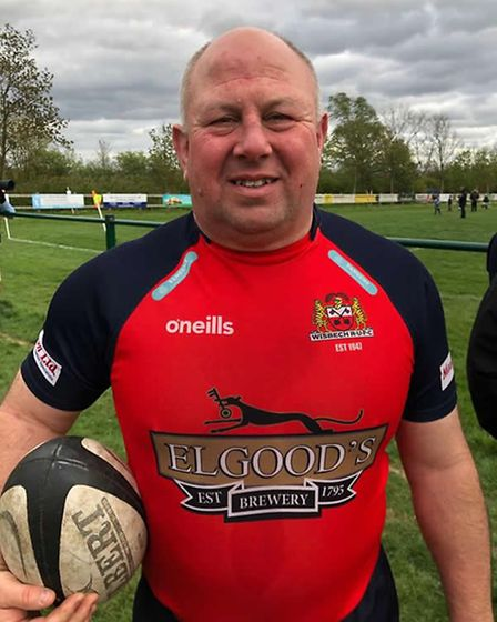 Veteran prop Mark Goude, playing alongside his 17-year old son delivered an outstanding performance