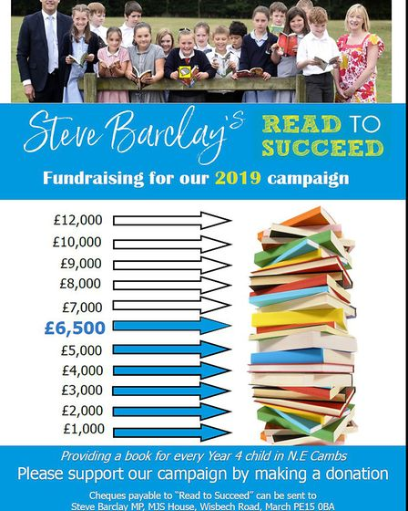 Steve Barclay's Read to Succeed campaign book chart. Picture: STEVE BARCLAY OFFICE