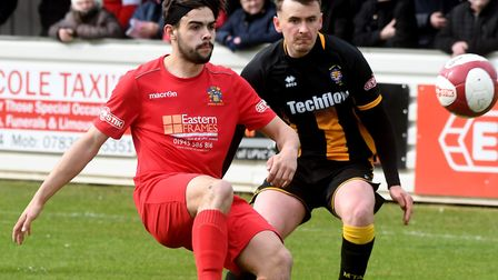 Wisbech Town were pipped 1-0 by Morpeth on the final day of the season. Picture: IAN CARTER