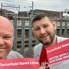 Labour's new councillors for the Potters Bar Furzefield ward, Cllr Christian Gray and Cllr Chris Mye