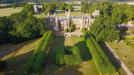 The glorious gardens at Knebworth House from the air. Picture: Casey Gutteridge / CPG Photography Lt