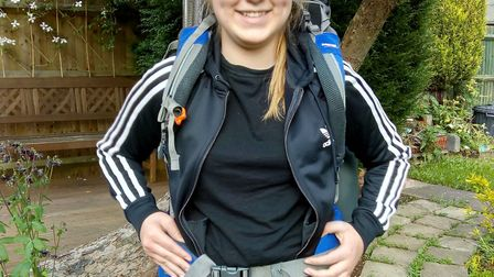 Hatfield mother Sandra Ison and her 16-year-old daughter Amelia (pictured) did the 25km Easter Walk