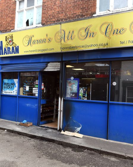 Haran's All In One Store in Norfolk Street, Wisbech, was targeted by arsonists earlier today. Extens