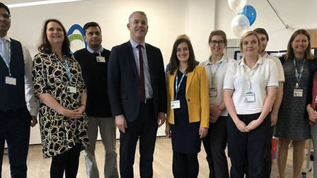 MP Steve Barclay at the official opening of the North Cambs Hospital redevelopment.