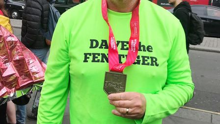 What a star performance from Wisbech man David Kerridge who celebrates completing the London Maratho