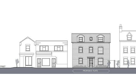 The site east of 13 Norfolk Street, facing Orange Grove, Wisbech, and the owner can no go ahead with