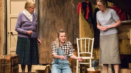 Maureen Davies as Lil, Kate Humbles as Faith, and Linda Vincent as Evelyn in Kindertransport at the