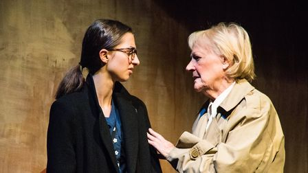 Alice Park as Eva and Maureen Davies as Lil in Kindertransport at the Barn Theatre in Welwyn Garden