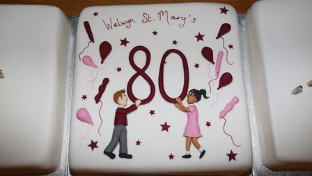 Welwyn St Mary's School celebrate the 80th birthday of their main building. Picture: DANNY LOO