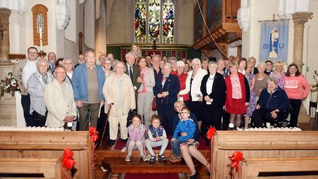 Parishioners gather to mark 150 years of St Augustine's Church. Picture: IAN CARTER.