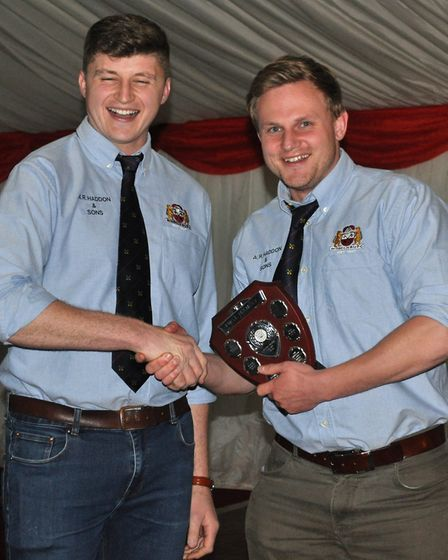 Pat Grote (R) awarded the 1st XV Players' Player of the year - Award winners collecting their prizes