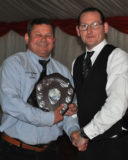 Joint winners of the Clubman of The Year - Leonard Veenendaal and Ian Luck - Award winners collectin