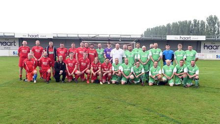 A special charity match was held in Wisbech with a Town Legends X1 taking on Ovendale FC, the team p