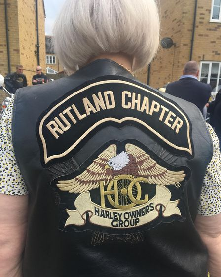 Birthday bikers treat grandmother to thrilling afternoon at 75th party in Murrow for Rose Turner. Pi