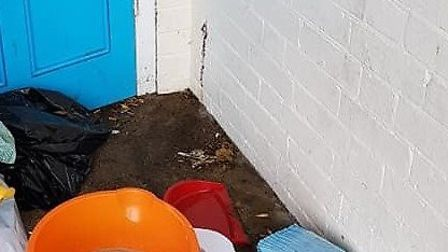 One of three photos taken by A Wisbech resident of the human excrement and other mess left in the e