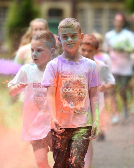 More than 200 people wearing special event t-shirts some even in fancy dress completed the 5km cou