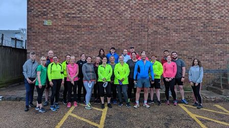 A group of beginners at Fenland Running Club