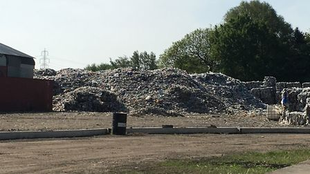 A waste site in Wisbech was found to be taking part in illegal activity following a one-day sting ca