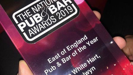 The White Hart in Welwyn was named best pub in East of England. Picture: White Hart.