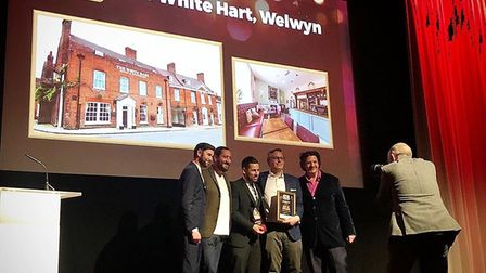Posing for photos at the National Pub & Bar Awards. Picture: White Hart.