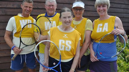 The Yellow Squad of Gary Fitzjohn, Andy Lister, Wendy Mitcham, Jan Wildman and Jane Page came out on