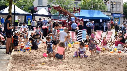 Wis-Beach Day brought out the crowds form a sun filled day when the seaside came to town. The sand p