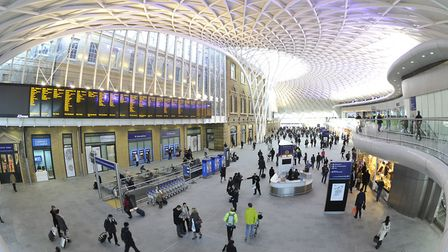 There will be no trains between Cambridge/Peterborough and London King's Cross (pictured) and London