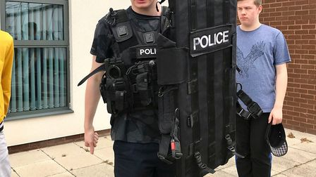 Volunteer police cadet students enjoy action-packed day with firearms officers. Picture: CAMBS POLIC