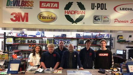 Kett Autopaints (Anglia) Ltd have been working in partnership with CWA's Wisbech students to help tr