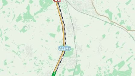A1(M) is still closed after being shut late last night. Picture: Highways England
