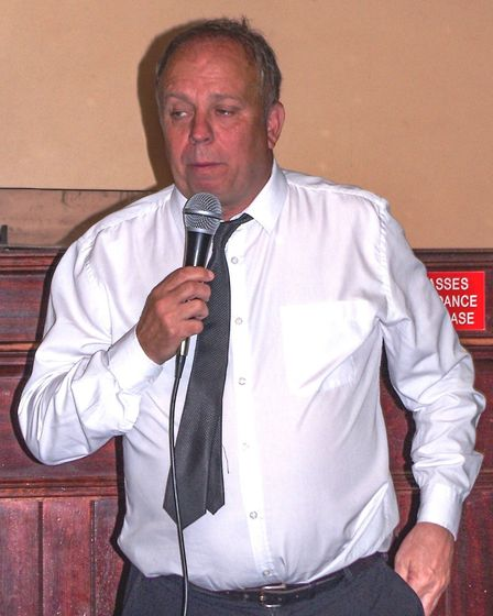 John Stiles entertained the crowds at Wisbech Business and Professional Men's Club's monthly meet-up