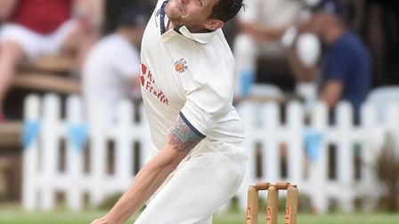 Ant Palmer bowls for Wisbech against March. Picture: IAN CARTER