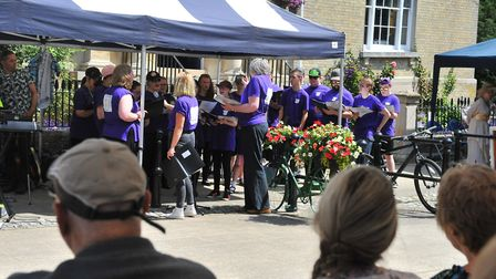 Pupils from Fenland-based Meadowgate Academy making their debut performance at the Wisbech Rose Fair