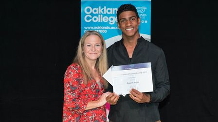 Awards were presented to students and staff at Oaklands College at a ceremony in Welwyn Garden City.