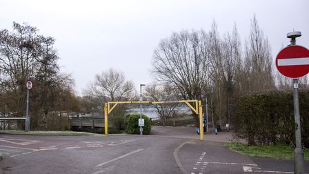 The entrance to the south car park at Stanborough Lakes. Picture: DANNY LOO