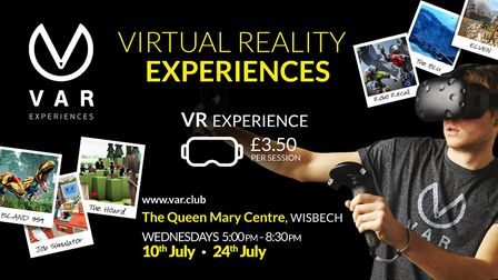 Virtual reality experiences are on offer at the Queen Mary Centre on Wednesday, July 10 and July 24.