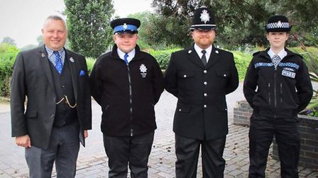 Wisbech Volunteer Police Cadets with Police and Crime Commissioner Jason Ablewhite at the Youth and