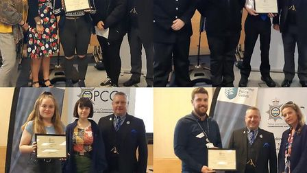 Young people's projects celebrated by Police and Crime Commissioner Jason Ablewhite at awards ceremo