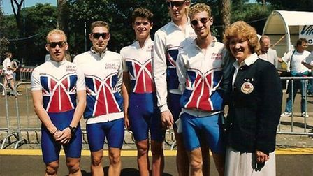 British Skating Legends archives.) 1992 World Championships, Italy. Michael McInerney is 3rd from th