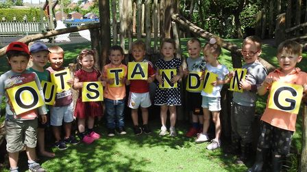 Ementh Nursery School has received an outstanding assessment by Ofsted. The school is ' a hive of le
