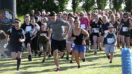 Staff, students and their families took part in Thomas Clarkson Academy's 'Race for Life' event in m