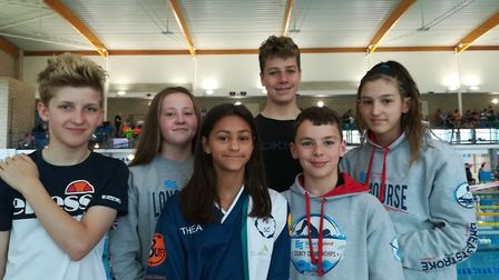 Potters Bar Swimming Club youngsters at regionals