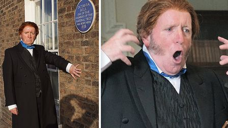 John Ruskin look-alike Paul OKeefe (pictured) was in Wisbech to stage a re-enactment of the opening