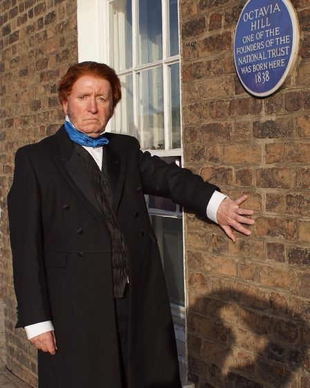 John Ruskin look-alike Paul O'Keefe (pictured) was in Wisbech to stage a re-enactment of the opening