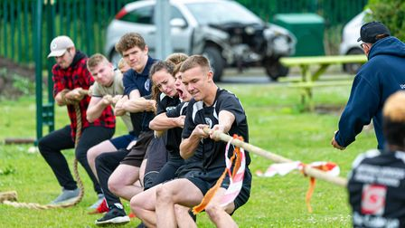 The College of West Anglias uniformed services department students taking part in an annual challeng