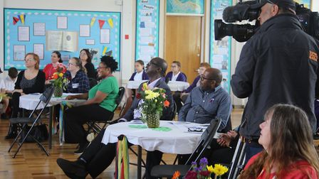 The BBC filming at Oak View School on 21 June. Picture: Supplied.