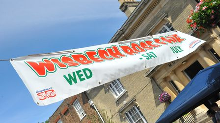Another sun-kissed day in Wisbech as day two of the town's Rose Fair gets underway outside St Peter
