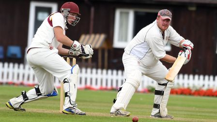 Wisbech captain Gary Freear at the crease. Picture: IAN CARTER